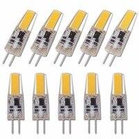 Mini lámpara LED COB G4 regulable, Bombilla de 6W, CA, CC de 12V, 220V, luces de vela, reemplazo de 30W, 40W, halógeno para foco para lámpara colgante, 10 Uds.