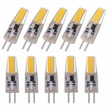 مصباح COB LED G4 صغير عكس الضوء 6 واط لمبة التيار المتناوب تيار مستمر 12 فولت 220 فولت شمعة سيليكون أضواء استبدال 30 واط 40 واط الهالوجين للثريا الأضواء