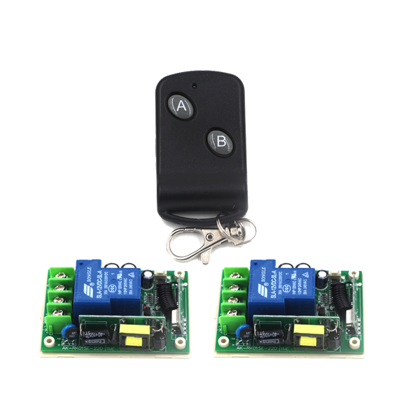 Wireless Remote Control Switch 110V 220V AC 85V-250V 30A Power Switch RF Remote Control Light Switch SKU: 5500