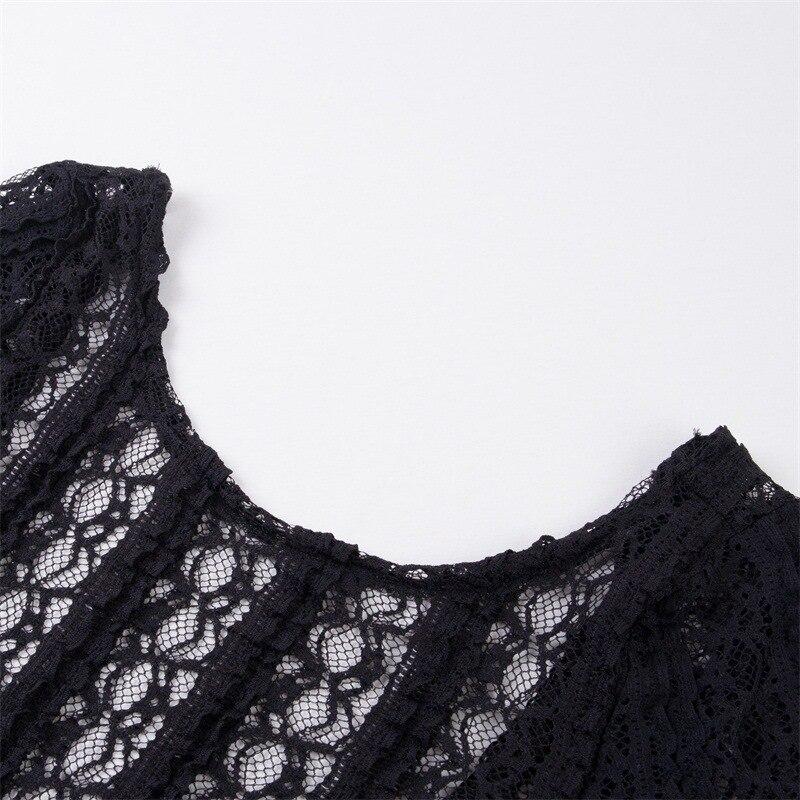 MUXU transparent black lace long sleeve backless bodysuit women rompers jumpsuit body feminino combinaison femme sexy bodysuit in Bodysuits from Women 39 s Clothing