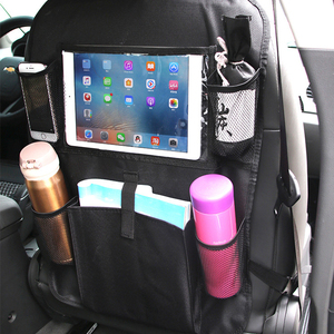 Image 2 - LCAV Car Seat Back Storage Organizer Cover Protector Hang Bag Bottle Facial Tissue Holder Oxford Waterproof Auto Stowing Tidying