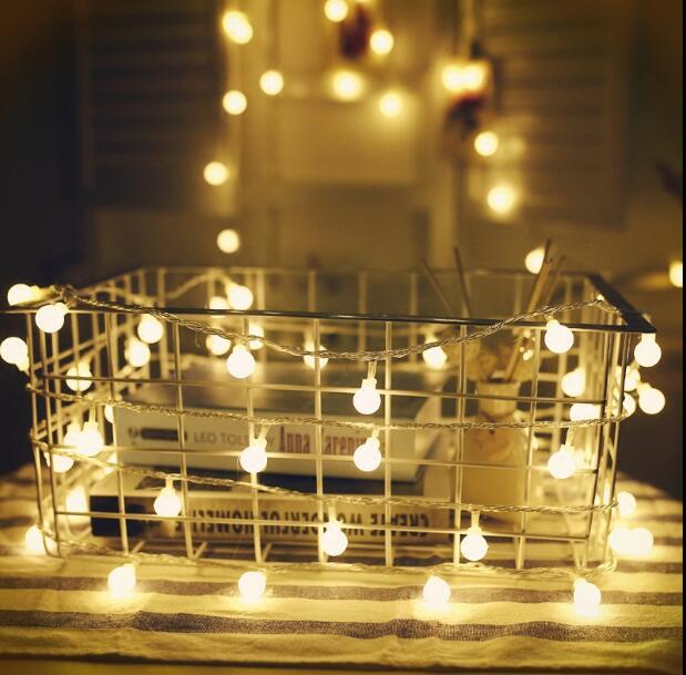 1pcs 220v 10m 100 LED lights flashing ball light bulb creative room hanging lights decorative lights for Wedding