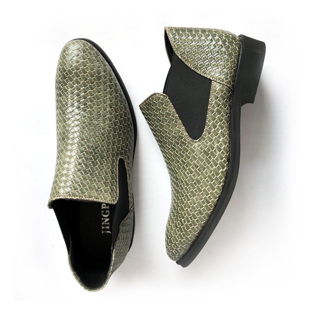 Leather Big verde Size Marca Respirável Preto Borla Novo Homens Da Mocassins Dos Sapatas Weave Luxo Flats Men Confortável 48 2018 Pu Casuais Calçados WSBt8zBqxw