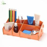 YIHONG DIY Wooden Storage Box Cosmetics Stationery Jewelry Daily Debris Desktop Zakka Storage Boxes Case For Halloween
