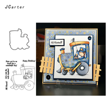 JC Driver Driving Train Metal Cutting Dies and Clear Stamps for Scrapbooking DIY Embossing Folder Handmade Album Stencil Crafts