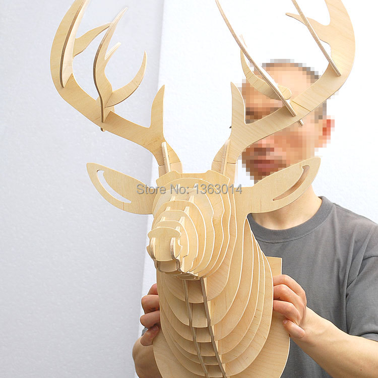 Famous Carved Deer Head Wall Decor Adornment - Wall Art Design ...