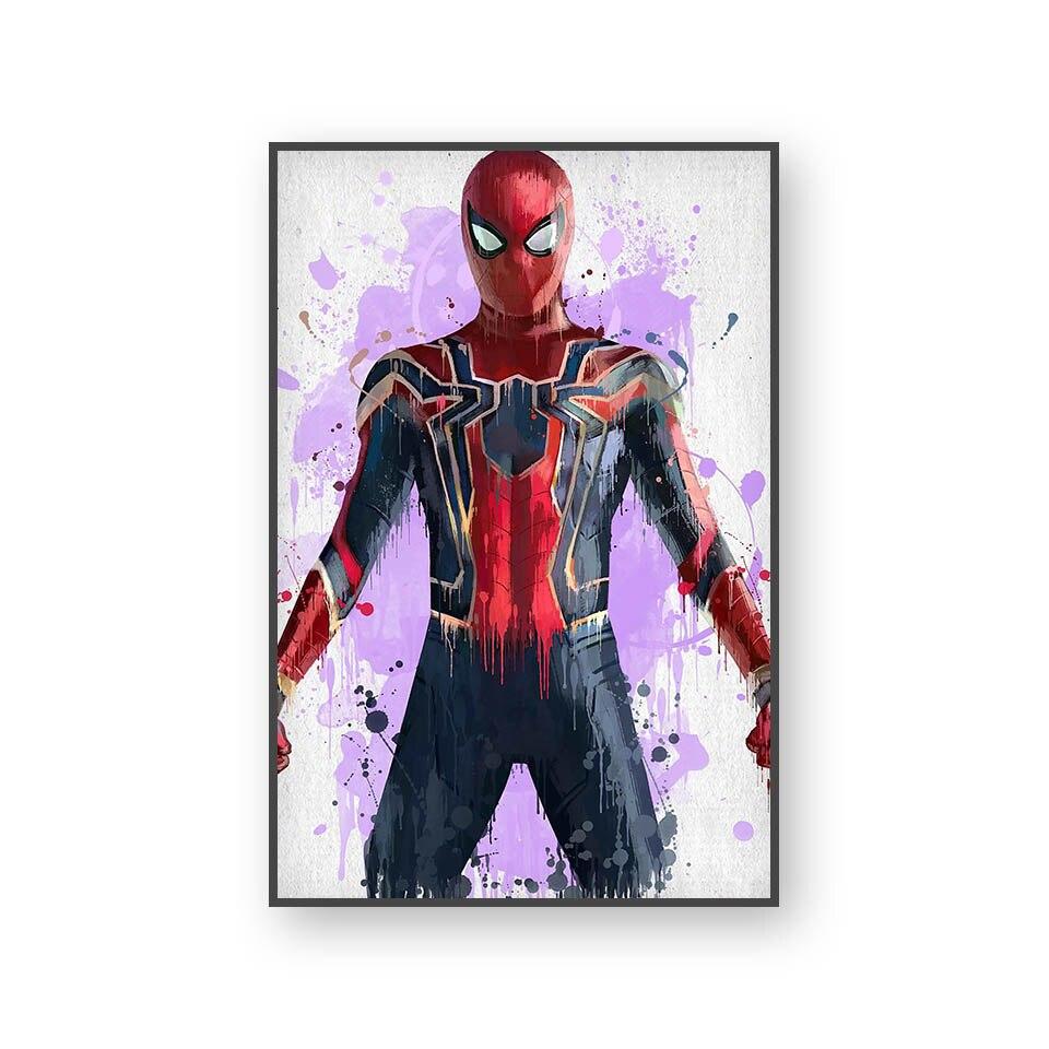 Настенный художественный холст с печатью постера, настенные картины для домашнего декора, Марвел, Мстители, фильм супергерой, Дэдпул, Железный Человек-паук, Локи - Цвет: L394F