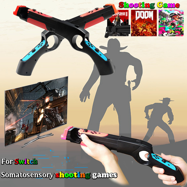 Nintend Switch NS Joy-con Games Peripherals Handgrip Sense Shooting Gun Handle Joystick Holder for Nintendo Switch Controller