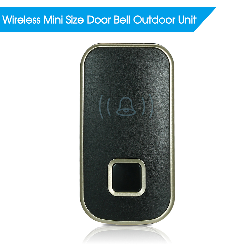 Security & Protection Shop For Cheap Wireless Mini Size Door Bell Outdoor Push Button Ip55 Waterproof Doorbell Elegant Design Sensitive Transmission Grade Products According To Quality