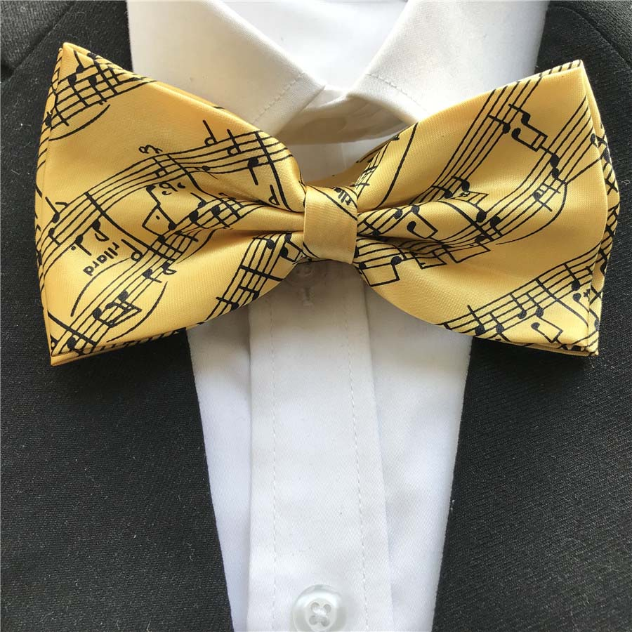 10 Teile/los Großhandel Erwachsene Männer Mode Musik Notation Bowties Musical Noten Klavier Schmetterlinge Bogen Krawatten