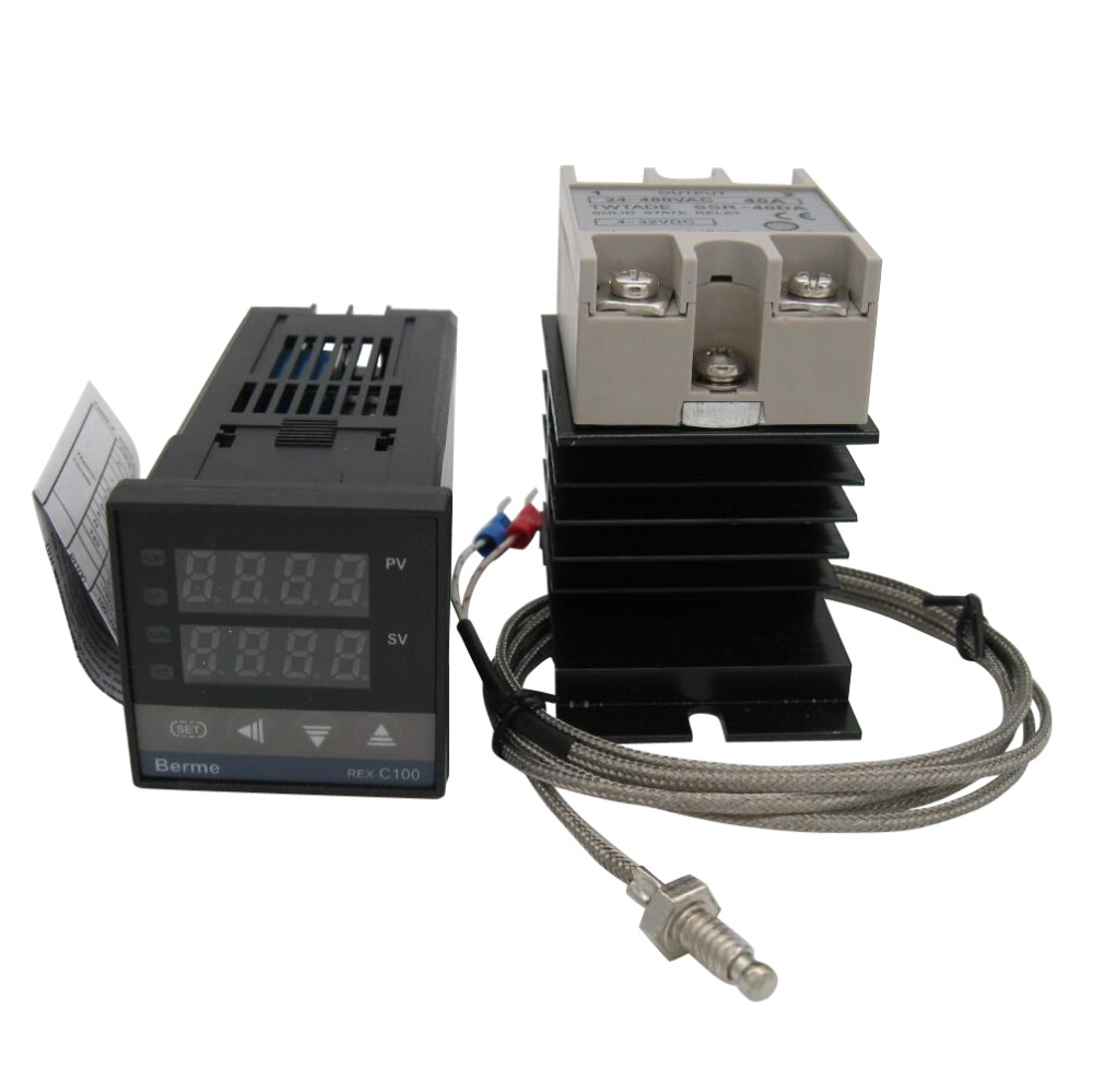 Image 2 - High Quality Digital PID temperature Controller Thermostat 100  240V AC with SSR 40DA solid state Relay heat sink  K  Thermocoupletemperature controller thermostatpid temperature  controller thermostatcontroller thermostat