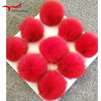 Accessories Wholesale 8CM/10cm/12CM Fox Decorative Hair Ball Clothes And Accessories Shoes And Hats Diy Accessories Hair Balls