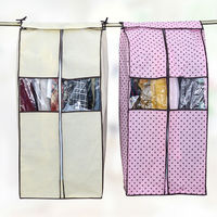 New Large Cloth Hanging Suit Coat Dust Cover Protector Wardrobe Storage Bag For Clothes Organizador
