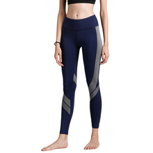 Fitness Yoga Sports Leggings Women Sports Color Block Gym Fitness Workout Elastic Tights Trousers Skinny Trousers Gym Sportwear mesh panel color block leggings