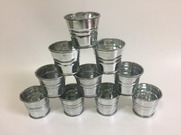 200Pcs/lot Wholesale D5XH4CM Rustic Nostalgia Mini Silver Succulent Planter Galvanized Buckets for small plant Cheap SF-059