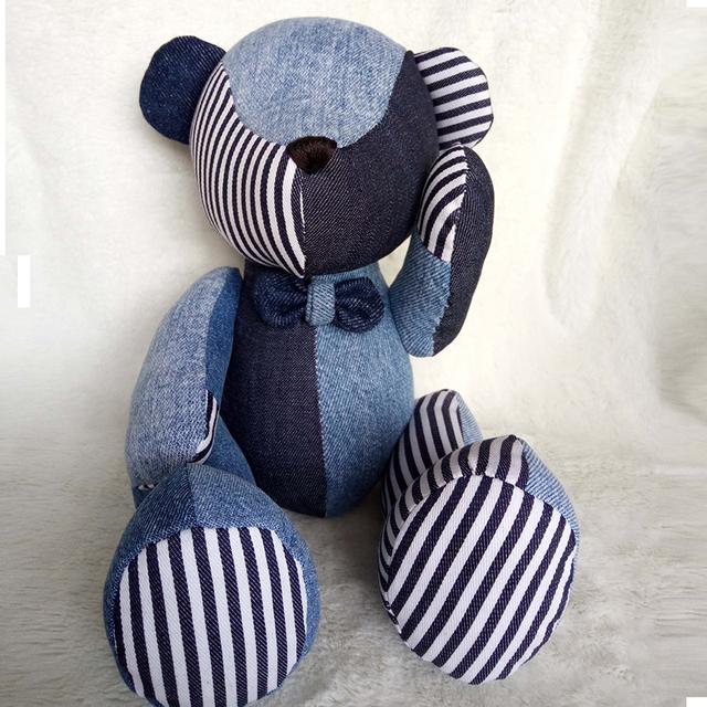 1 UNIDS nuevo creativo de dril de algodón conjunto oso muñeca de peluche de juguete para Niños Animales Osos Lindos Juguetes de Peluche de regalo de Cumpleaños
