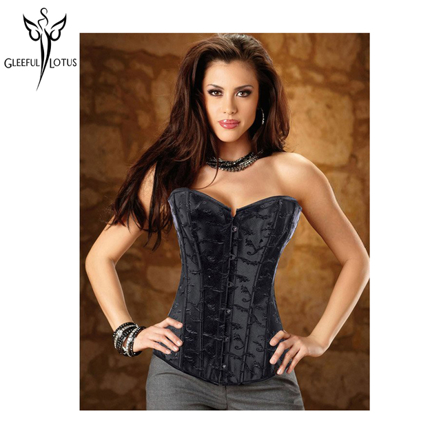 gaine amincissante Free Shipping Women Clothing Satin Black  Sexy Lingerie  Corset (bustier+g-string)  Wholesale Retail 2814