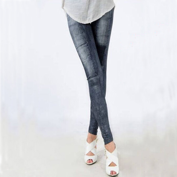 Women's Denim Leggings,Thin Jeans, Casual Denim Leggings 10