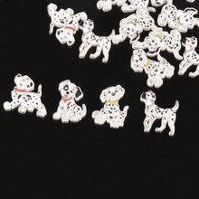 50 шт разноцветные далматинцы с рисунком собаки 2 отверстия пуговицы для рукоделия и скрапбукинга Швейные декоративные 20-38 мм M1591