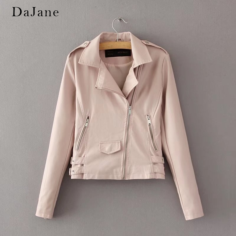 Women's Autumn Winter New   Leather   Jacket long-sleeved Shirt Short Manufacturers   Leather   Jacket Women