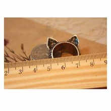Vintage Cat Ears Ring