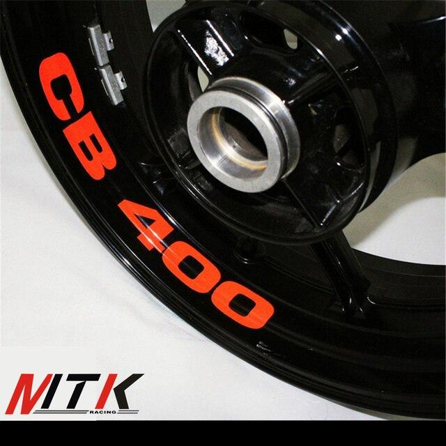 MTKRACING CB400 8 X CUSTOM INNER RIM DECALS WHEEL Reflective STICKERS STRIPES FIT HONDA CB 400
