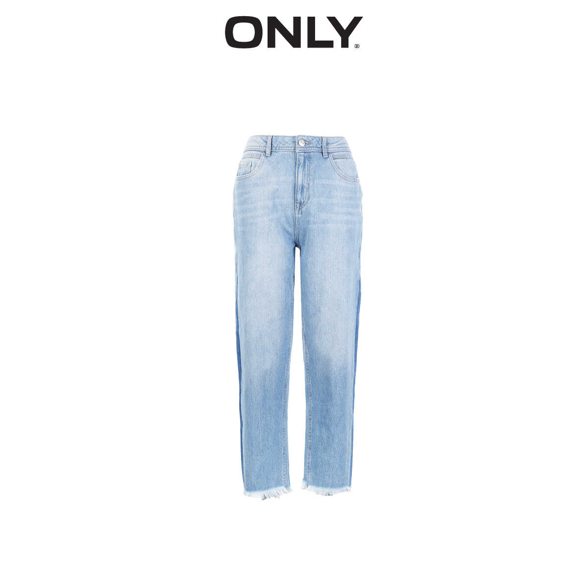 Alleen Zomer Vrouwen Loose Fit Gedragen Fading Bf Stijl Straight Crop Jeans | 119149646