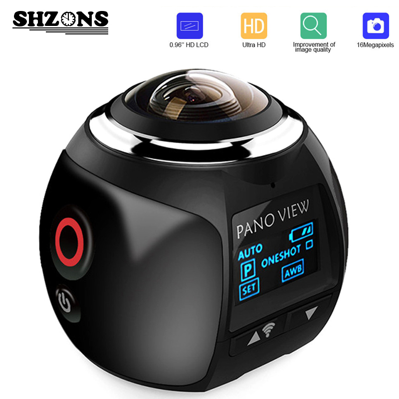 Upgrage V1 360 Action Camera Wifi Mini Panoramic Camera 2448*2448 Ultra HD Panorama Camera 360 Degree Sport Driving VR Camera soocoo 360 degree action video camera wifi 4k 24fps 2 7k 30fps ultra hd sport driving 360 camera with remote control