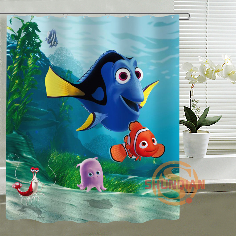 G Marlin Dory Finding Nemo Custom Shower Curtain Home Decor Bathroom Waterproof Fabric Bath Curtain