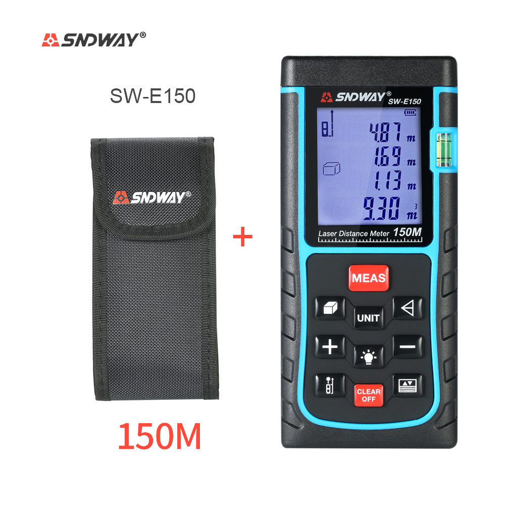 Mini Handheld 40m/50m/60m/70m/80m/100m/120m/150m LCD Digital Laser Distance Meter Range Finder Distance Area Volume Measurement medea
