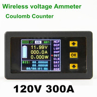 VAC1300A 120V 300A New Wireless Bi Directional Color LCD Ammeter Voltage Meter Current Power Capacity Coulomb