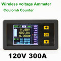 VAC1300A 120V 300A new wireless bi-directional Color LCD ammeter voltage meter current power capacity  coulomb counter