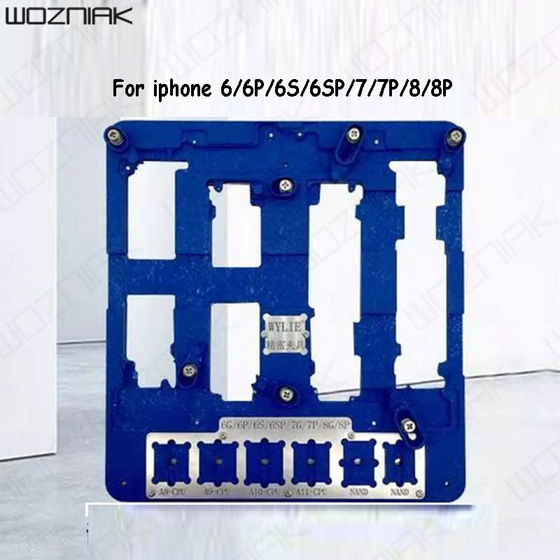 Wozniak New Wl 8 in1 High-precision Maintenance Fixture For iPhone 6 6p 6s 6sp 7 7p 8 8p Motherboard Repair Platform Splint