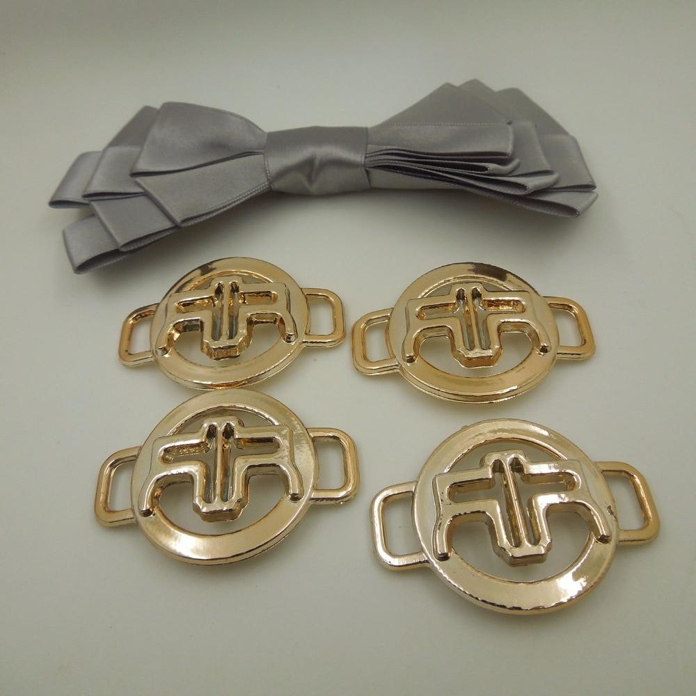 57/35mm,Hole Size 10mm,15pcs uv plated rose gold no fade ribbon buckles acessories Ribbon Slider Headband Hair Clip DIY