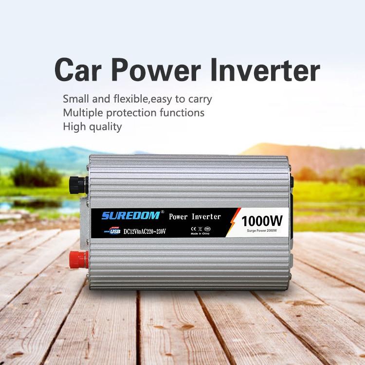 1000W 12V ändern 220 V/110 Solar Inverter 1000W Multifunktionale Reise Netzteil Control Auto power inverter