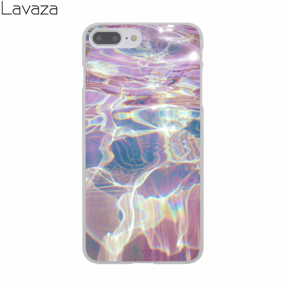 8503bfa4883 ... Lavaza Abstract Rainbow Ripple Tie Dye art Hard Cover Case for iPhone X  XS Max XR ...