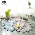80cm Handmade Wove Blanket For Newborn Babies Photography Props Soft Baby Knitted Blanket Crawling Mat  Play Rug Room Decoration