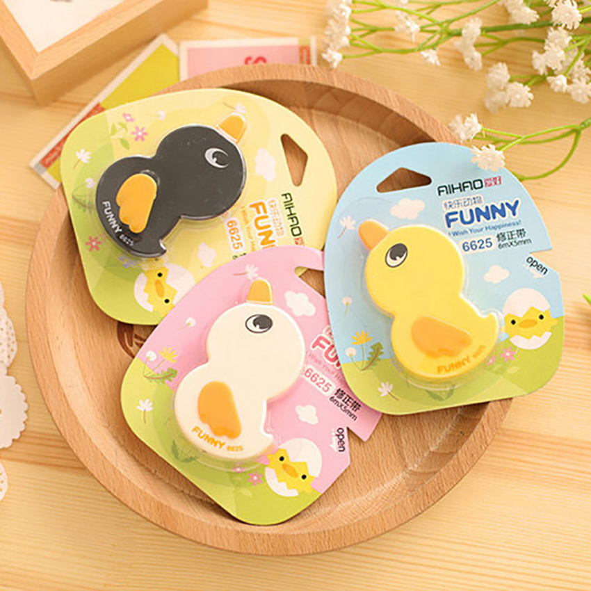Cute Duck Correction Tape 6M Corrector Students Stationery Lovely Animal Modified Tape School Prize Office Supplies For Kids