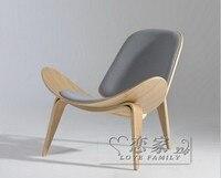 Деревянная мебель CH198 реплика вегнер три ноги CH07 shell стул