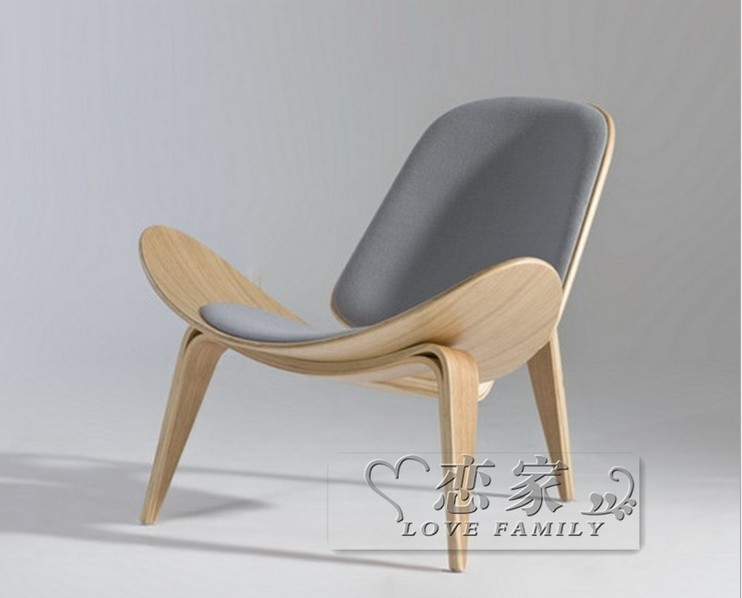 Wooden furniture ch198 replica wegner three legged ch07 shell chair in living room chairs from - Shell chair replica ...