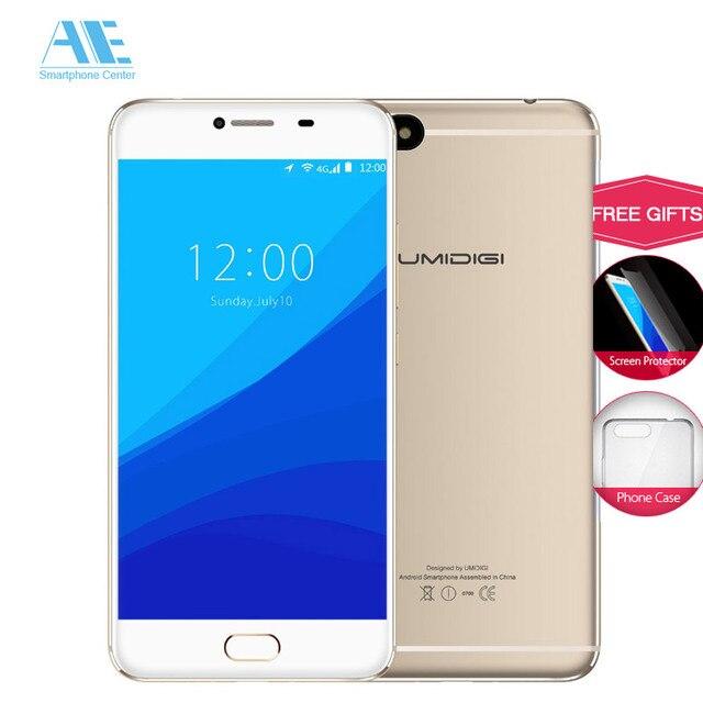UMIDIGI C NOTE MT6737T Quad-core Metal Cell phone 5.5 Inch 3800mAh Android 7.0  3G RAM 32G ROM 13MP Fingerprint  Mobile Phone