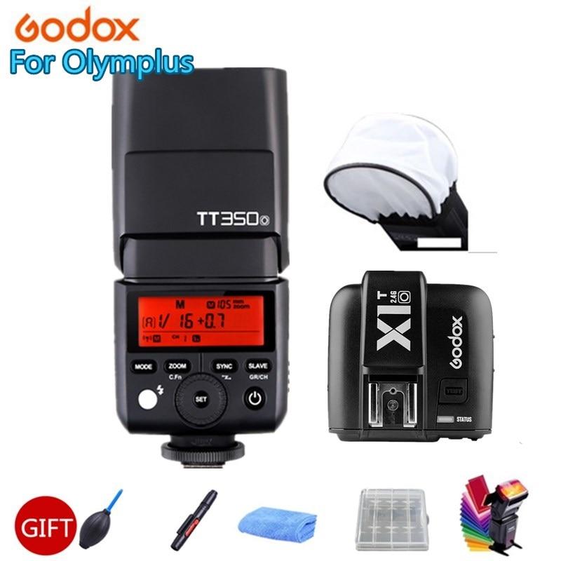 Godox Mini Speedlite TT350O Camera Flash TTL HSS GN36 + X1T-O Transmitter Trigger For Olympus/Panasonic Mirrorless DSLR Camera