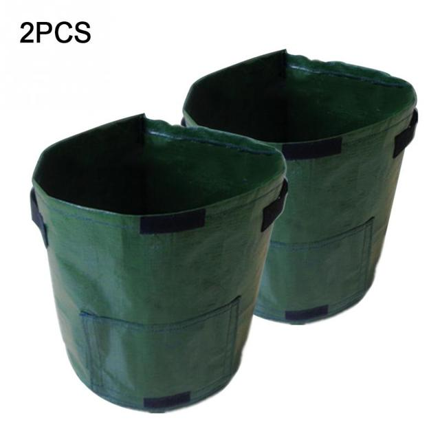 2 Pcs 50L Planting PE Bags Cultivation Garden Pots Planters Vegetable Fruit Potato anti-aging Grow Bags Farm Home Garden Tools 3