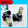 2X 12V 7.5W xenon white  880 H27 881 led fog lamp bulb light globe auto car lighting source  car parking accessories led