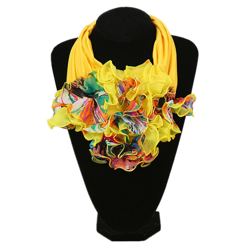 28 Colors Fashion Floral Scarf Luxury Brand Scarf For Ladies Fashion Neckerchief Ring Scarves Collar Scarf For Women