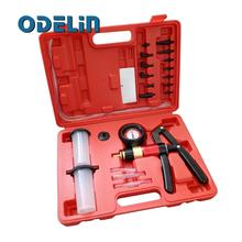 Hand Held Vacuum Pump Test Brake Bleeding Car Van Garage Tool Kit Bleeder Set