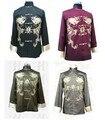 2017 NEW Spring Chinese Men's Silk Satin Embroidery Jacket Coat Dragon Size S M L XL XXL XXXL Free Shipping M1011