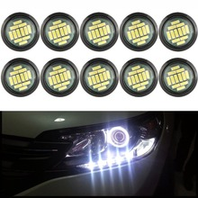 купить 10PCS White 12V 15W Eagle Eye LED DRL Daytime Running Car Rock Underbody Lamp Backup Reversing Parking Signal Light онлайн