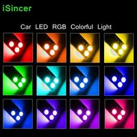 10Sets T10 RGB Multi Colors Changing LED Lamp Bulb Car Styling Colorful Auto Car Interior Light