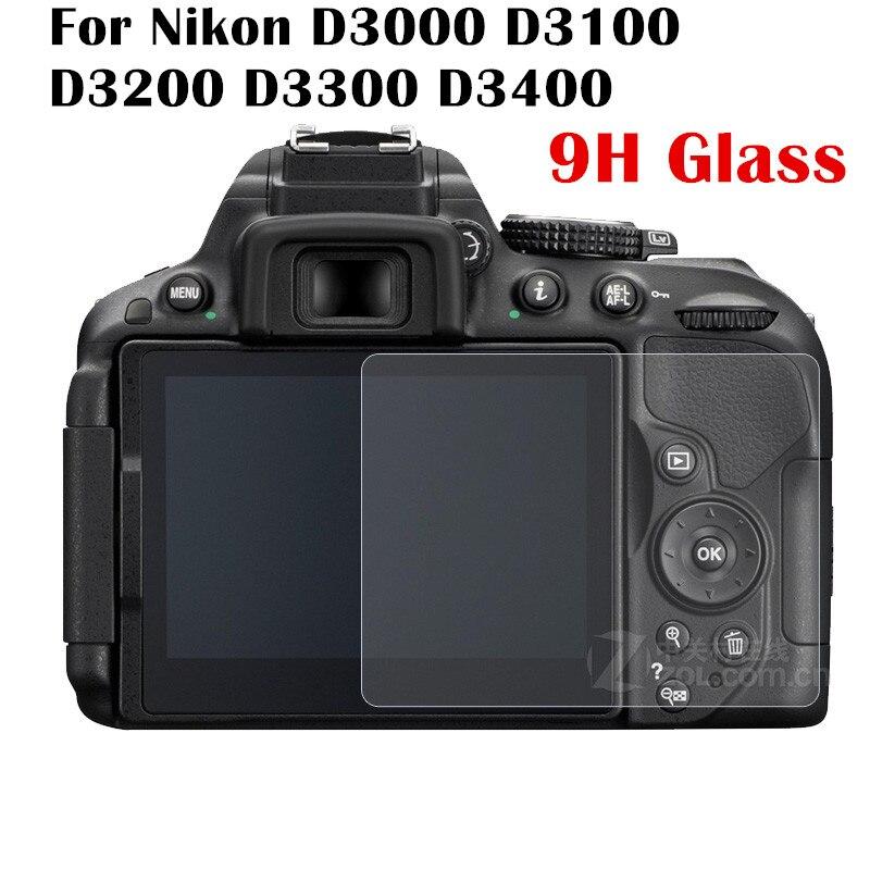 2pcs/lot 9H Tempered Glass Screen Protector Film For Nikon D3000 D3100 D3200 D3300 D3400 Camera Protective Film Screen Guard